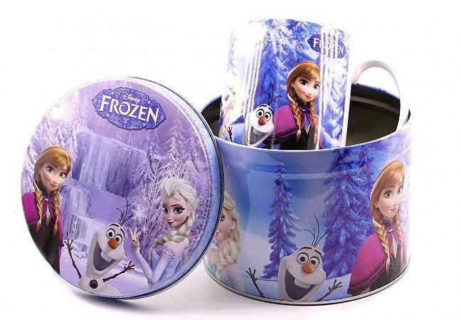 Caneca De Porcelana Na Lata Frozen 350ml
