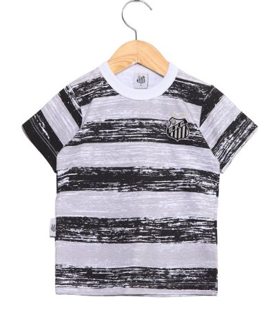 Camiseta Bebê Santos Listras Oficial