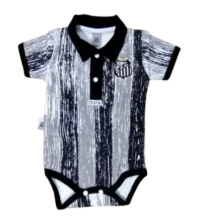Body Bebê Santos Polo Listras Oficial