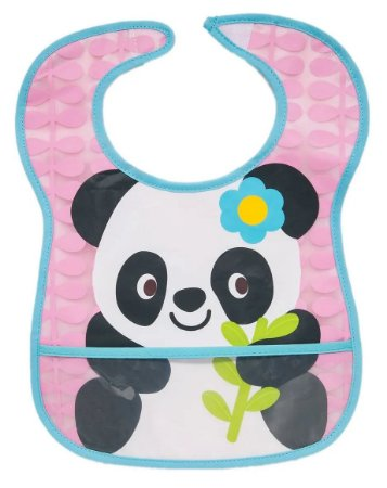 Babador Com Bolso Cata-migalhas Panda Buba