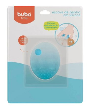 Escova de Banho Infantil em Silicone Azul - Buba