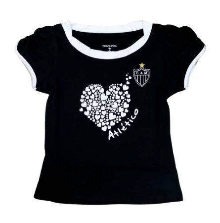 Camiseta Baby Look Infantil Atlético MG Oficial