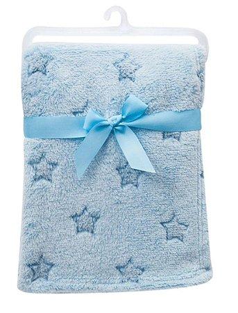 Manta Bebê Em Soft Estrelinhas Azul Buba