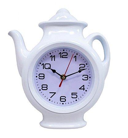 Relógio de Parede Branco Bule 29x24.5cm