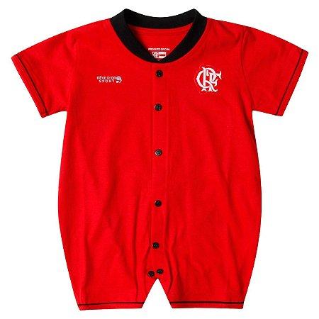 Macacão Bebê Flamengo Curto Vermelho Oficial