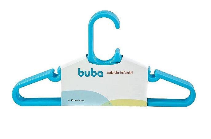 Kit Com 10 Cabides Infantil Azul Buba