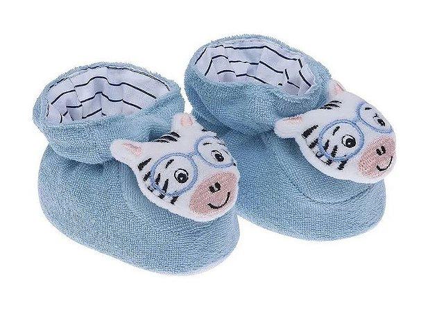Pantufa Bebê Divertida Ovelhinha Azul Pimpolho