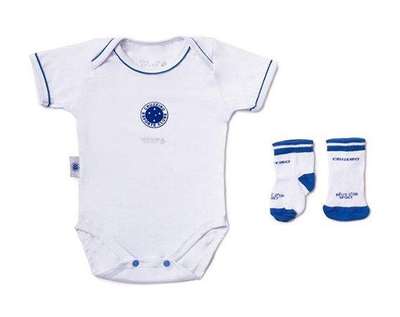 Kit Bebê Cruzeiro com Body e Meia Oficial