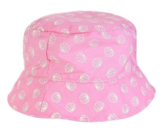 Chapéu Infantil Conchas  Rosa Pink - Pimpolho