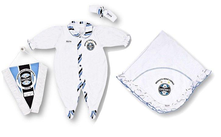 Kit Maternidade Grêmio com Manta e Tiara Revedor