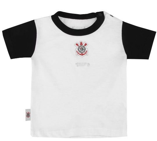 Camiseta Corinthians Bebê Bicolor Oficial