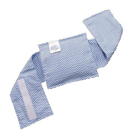 Bolsinha Térmica de Sementes Cólica do Bebê Chevron Azul Fino