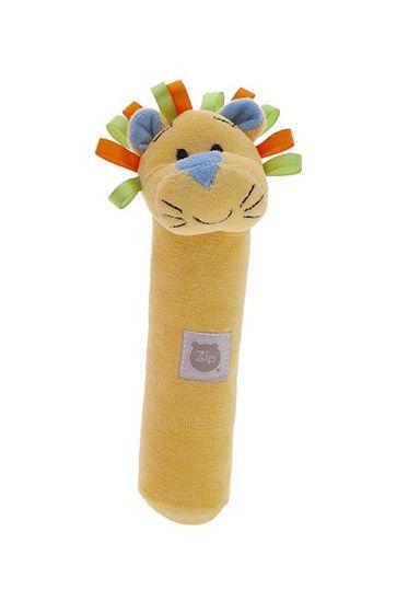 Chocalho Pelúcia Tuby Circo Leãozinho Amarelo Zip