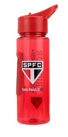 Garrafa Plástico Com Canudo 700ml São Paulo Oficial