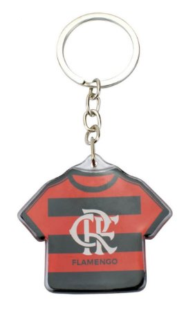 Chaveiro de Metal Camisa Futebol 5cm Flamengo Oficial