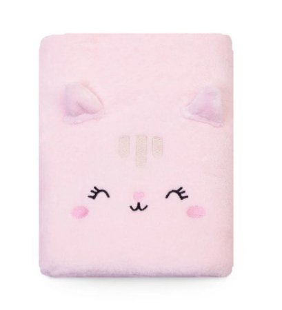 Cobertor Bebê Microfibra Gatinha Rosa 1,10m X 85cm Papi