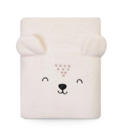 Cobertor Bebê Microfibra Ursinho Creme 1,10m X 85cm Papi