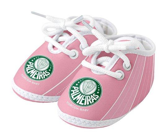 Chuteira Bebê Palmeiras Rosa Oficial - Torcida Baby