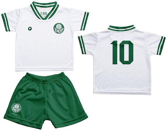 Conjunto Bebê Palmeiras Uniforme Branco - Torcida Baby