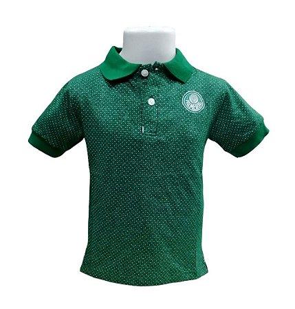 Camisa Polo Infantil Palmeiras Verde Oficial