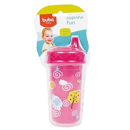 Copinho Infantil Fun Baby Rosa 300 Ml Buba