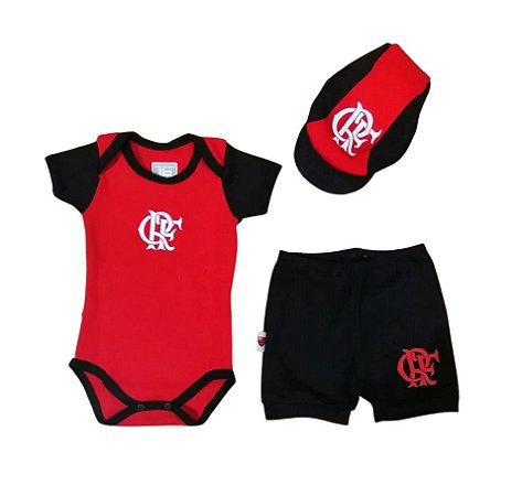 Kit Conjunto Flamengo Body Shorts e Boné Oficial