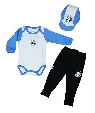 Kit Conjunto Grêmio Body Calça e Boné Oficial