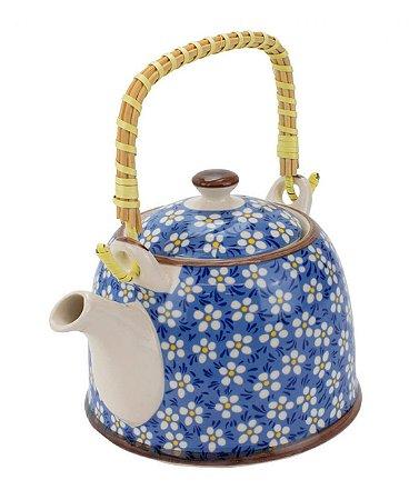 Bule Em Porcelana Para Chá Com Infusor Floral 750ml