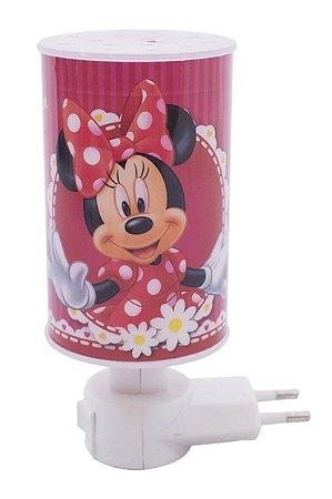 Mini Luminária Abajur Minnie Rosa - Disney