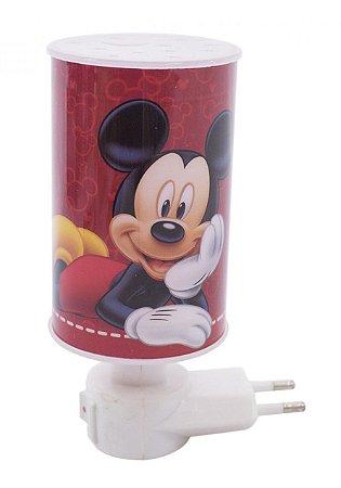 Mini Luminária Abajur Mickey Vermelho - Disney