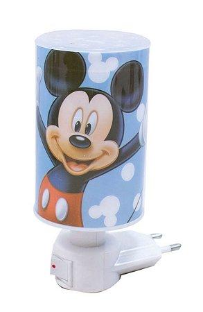 Mini Luminária Abajur Mickey Azul - Disney