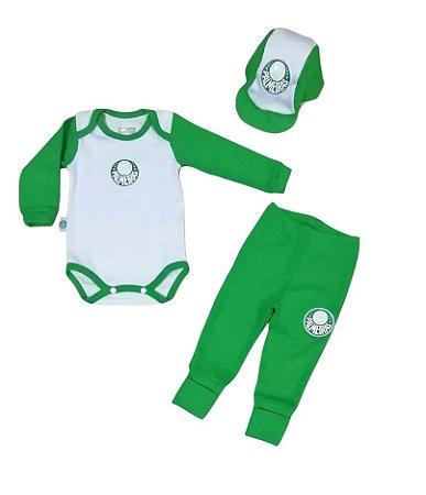 Kit Conjunto Palmeiras Body Calça e Boné Oficial