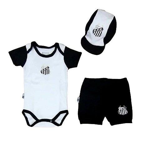 Kit Conjunto Santos Body Shorts e Boné Oficial
