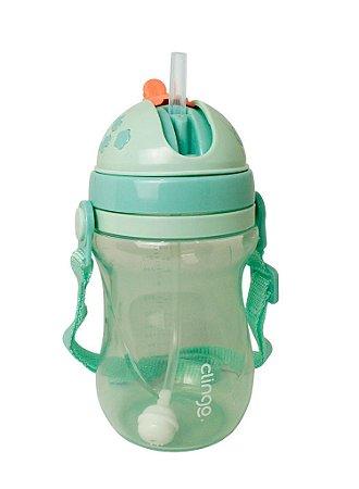 Copo Infantil De Transição Com Válvula Verde 320 ml Clingo