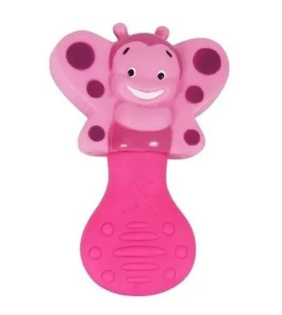 Mordedor Bebê Abelha Rosa Vila Toy