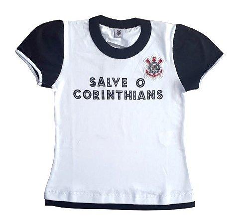 Baby Look Infantil Corinthians Oficial
