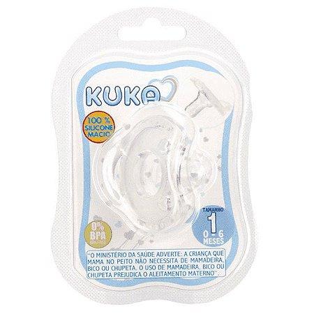 Chupeta Kuka Silicone Soft Comfort Tam 1 Natural