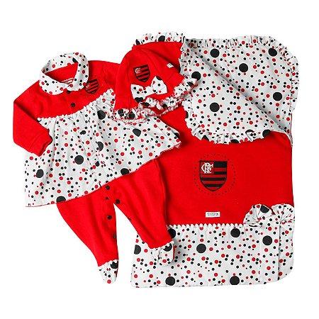 Kit Maternidade Flamengo Luxo Meninas Oficial