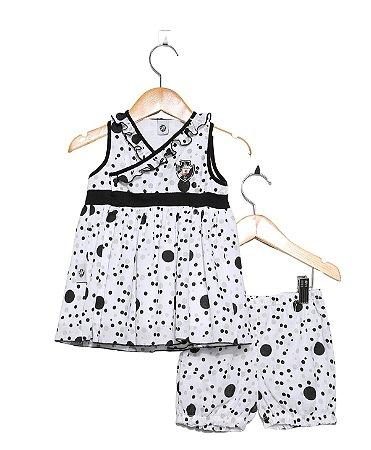 Vestido Bebê Vasco com Shorts e Tiara Oficial