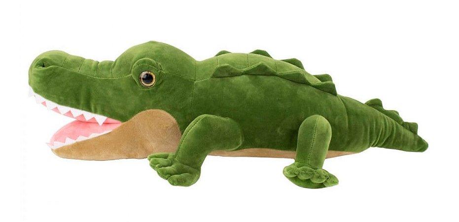 Pelúcia Crocodilo Verde 38 cm