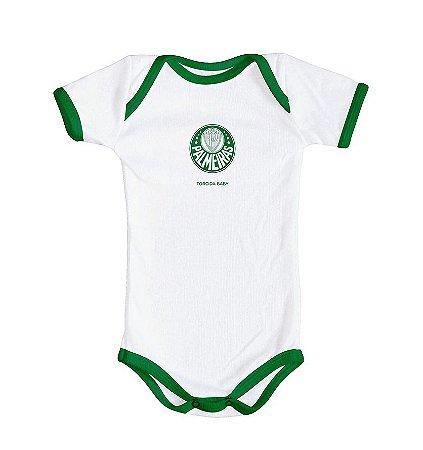 Body Palmeiras Branco Oficial Torcida Baby