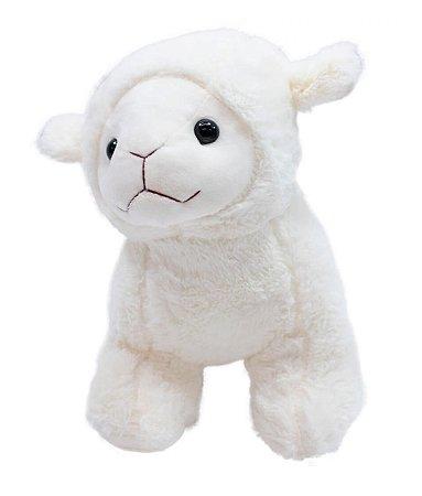 Pelúcia Ovelha Branca 25 cm