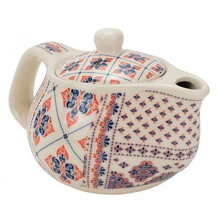 Bule de Chá Em Porcelana Com Infusor 250ml