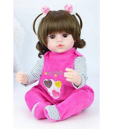 Boneca Bebê Reborn Laura Baby Nurse 42cm