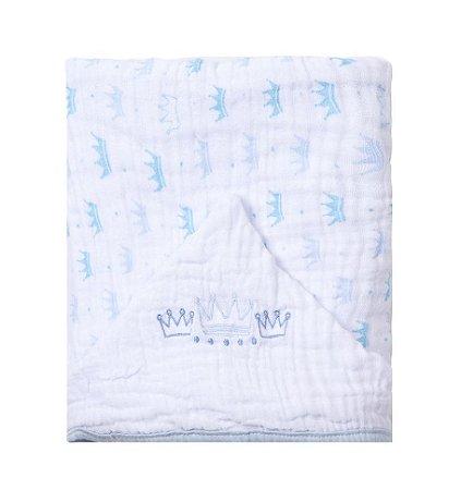 Toalha De Banho Bebê Com Capuz Bordado Príncipe - Papi