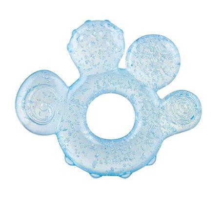 Mordedor Bebê Mãozinha Azul Com Gel Nûby