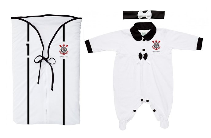 Kit Corinthians Saída Maternidade Meninas - Torcida Baby