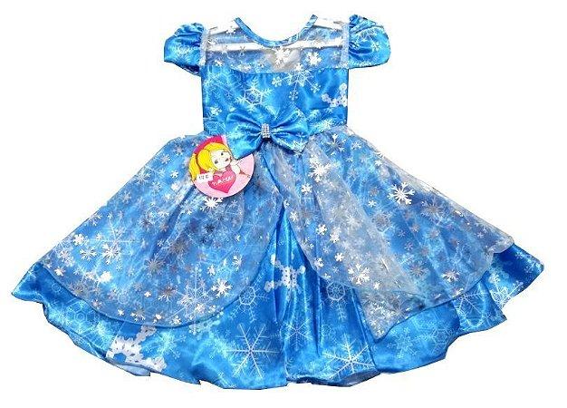 Vestido Frozen Infantil Festa