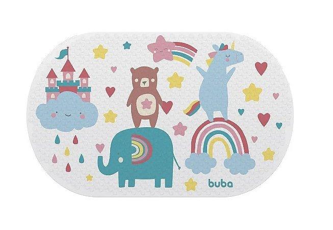 Tapete Transparente Para Banho Bebê Arco-Íris Buba
