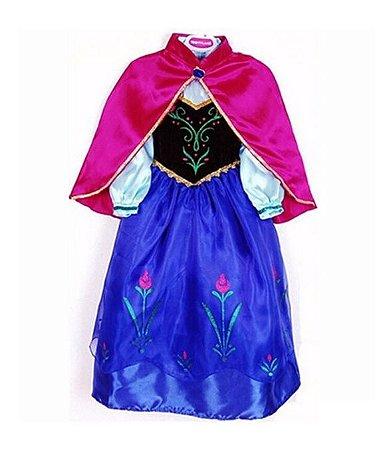 Vestido Fantasia Princesa Anna Frozen